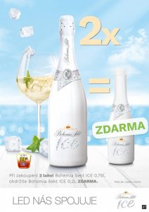 Bohemia sekt Ice 0,7 l - 0,2 l zdarma k 2 lahvím