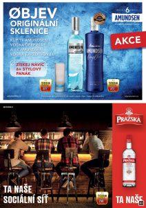 Amundsen vodka 1l Deep Blue/Expedition + dárek